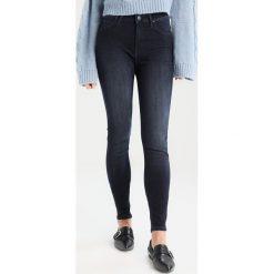 Lee SCARLETT HIGH Jeans Skinny Fit dark blue denim. Niebieskie jeansy damskie marki Lee, z bawełny. W wyprzedaży za 223,30 zł.