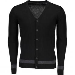 Kardigan w kolorze czarnym. Niebieskie swetry rozpinane męskie marki GALVANNI, l, z okrągłym kołnierzem. W wyprzedaży za 329,95 zł.