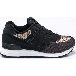New Balance - Buty WL574FAA. Czarne buty sportowe damskie marki New Balance, z gumy. W wyprzedaży za 269,90 zł.