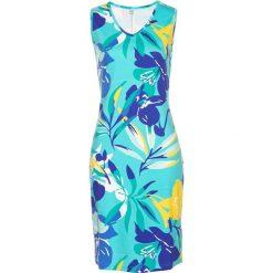 Sukienki: Sukienka shirtowa z nadrukiem bonprix morsko-szafirowy z nadrukiem