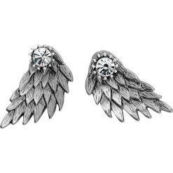 Wildkitten Silver Wing Kolczyki - Earpin srebrny. Szare kolczyki damskie Wildkitten®, srebrne. Za 42,90 zł.