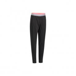 Spodnie kardio fitness 100 damskie. Czarne bryczesy damskie marki DOMYOS, l, z elastanu, na fitness i siłownię. Za 69,99 zł.
