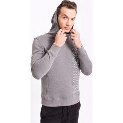Bluzy męskie: Bluza męska BLM207z- szary melanż – 4F