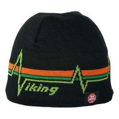 Czapki męskie: Viking Czapka Windstopper 0651 czarno-zielona (2150651UNI)