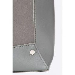 Answear - Torebka Wild Nature. Czarne torebki klasyczne damskie ANSWEAR, w paski, z materiału, średnie. W wyprzedaży za 89,90 zł.