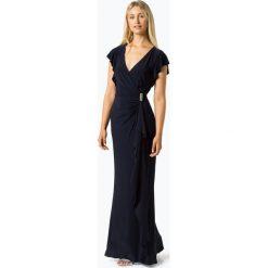 LAUREN RALPH LAUREN - Damska sukienka wieczorowa, niebieski. Niebieskie sukienki koktajlowe Lauren Ralph Lauren, z kopertowym dekoltem, kopertowe. Za 499,95 zł.
