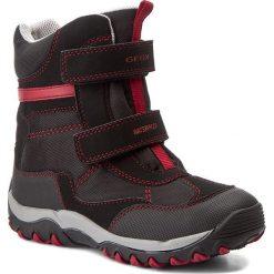 Buty zimowe chłopięce: Śniegowce GEOX – J Alaska B.B Wpf A J642ZA 01150 C0260 Black/Dk Red