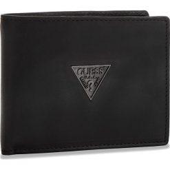Duży Portfel Męski GUESS - SM2501 LEA24  BLA. Czarne portfele męskie marki Guess, z nubiku. Za 279,00 zł.