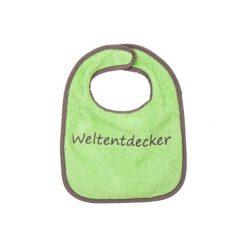 Śliniaki: FILLIKID Śliniaczek z znapisem Weltenentdecker zielony/ brązowy