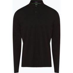 BOSS Athleisurewear - Męska koszulka polo – Pirol, czarny. Czarne koszulki polo BOSS Athleisurewear, l, z długim rękawem. Za 429,95 zł.