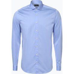 Tiger of Sweden - Koszula męska, niebieski. Czarne koszule męskie na spinki marki Premium by Jack&Jones, l, z bawełny, z włoskim kołnierzykiem, z długim rękawem. Za 379,95 zł.