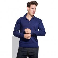 William De Faye Sweter Męski Xl Ciemny Niebieski. Niebieskie swetry klasyczne męskie William de Faye, m, z kaszmiru, z klasycznym kołnierzykiem. W wyprzedaży za 215,00 zł.