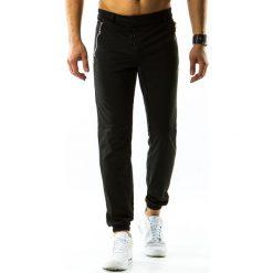 Spodnie dresowe męskie: Spodnie męskie dresowe baggy czarne (ux0817)
