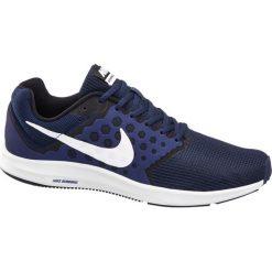 Buty męskie Nike Downshifter 7 NIKE granatowe. Białe buty do biegania damskie marki Nike, z materiału, nike downshifter. Za 219,90 zł.