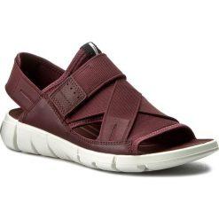 Sandały ECCO - Intrinsic Sandal 84200352999 Bordeaux/Bordeaux. Czerwone sandały damskie ecco, z materiału. Za 429,90 zł.