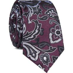 Krawat jedwabny KWWR000348. Czerwone krawaty męskie Giacomo Conti, z jedwabiu. Za 129,00 zł.