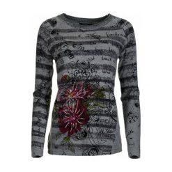 Swetry klasyczne damskie: Desigual Sweter Damski Lia M Szary