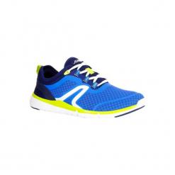 Buty męskie do szybkiego marszu Soft 540 Mesh niebiesko-żółte. Niebieskie buty fitness męskie NEWFEEL, z gumy. Za 129,99 zł.