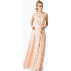 Sukienki: Niente – Damska sukienka wieczorowa z etolą, pomarańczowy