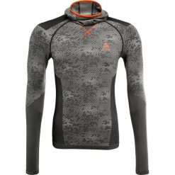 Podkoszulki męskie: ODLO EVOLUTION WARM  Podkoszulki black/odlo concrete grey/orange