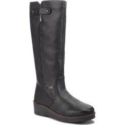 Kozaki RIEKER - Y4680-00 Schwarz. Czarne buty zimowe damskie marki Rieker, z materiału. Za 399,00 zł.
