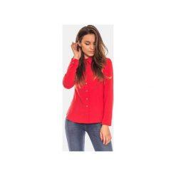 Czerwona koszula damska z kołnierzykiem. Zielone koszule damskie marki Soleil, na co dzień, xs, z dekoltem w łódkę, dopasowane. Za 119,00 zł.