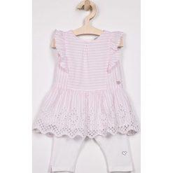 Spodnie dziewczęce: Blukids – Komplet dziecięcy 74-98 cm