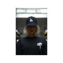 Bluza TGND Black. Czarne bluzy z nadrukiem damskie Harp Team, m, z bawełny. Za 149,00 zł.