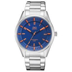 Biżuteria i zegarki męskie: Zegarek Q&Q Męski QA54-215 Sportowy srebrny