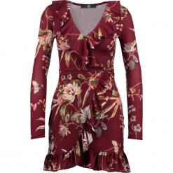 Sukienki: Missguided LARGE FLORAL WRAP TEA Sukienka z dżerseju burgundy