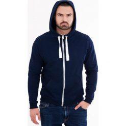 Męska bluza MF Blue. Niebieskie bluzy męskie rozpinane marki Astratex, m, prążkowane. Za 123,99 zł.