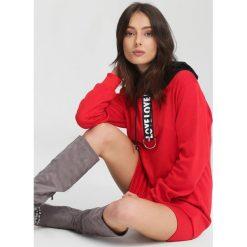 Czerwona Bluza Cuban Rhythm. Czerwone bluzy damskie other, l, z kapturem. Za 64,99 zł.