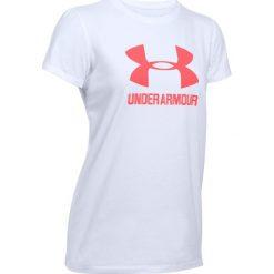 Bluzki asymetryczne: Under Armour Koszulka damska Sportstyle Crew biała r. L (1298611-100)