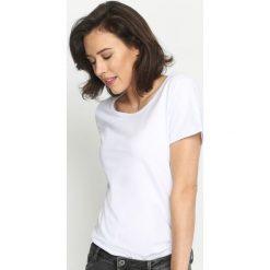 T-shirty damskie: Biały T-shirt Whatness