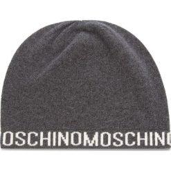 Czapka MOSCHINO - 65131 M1880 015. Szare czapki zimowe damskie MOSCHINO, z kaszmiru. Za 279,00 zł.