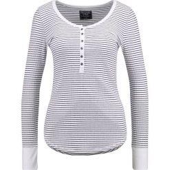 Bluzki asymetryczne: Abercrombie & Fitch SLIM HENLEY Bluzka z długim rękawem white stripe