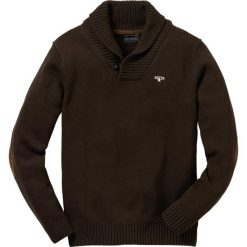 Swetry klasyczne męskie: Sweter Regular Fit bonprix ciemnobrązowy