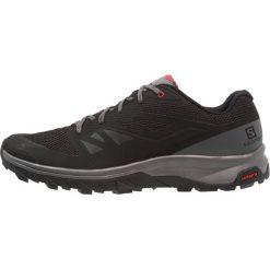 Salomon OUTLINE Obuwie hikingowe black/quiet shade/high risk red. Czarne buty sportowe męskie marki Salomon, z materiału, outdoorowe. Za 479,00 zł.