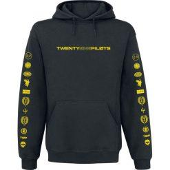 Twenty One Pilots Logo Heavy Bluza z kapturem czarny. Czarne bluzy męskie rozpinane Twenty One Pilots, xxl, z nadrukiem, z kapturem. Za 184,90 zł.