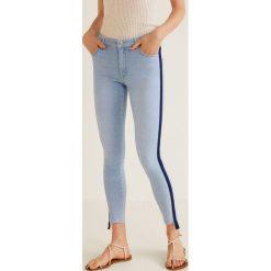 Mango - Jeansy Skinny. Niebieskie jeansy damskie rurki marki Mango, z bawełny. W wyprzedaży za 83,93 zł.