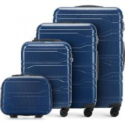 Zestaw walizek 56-3P-98K-90. Niebieskie walizki marki Wittchen, z gumy, duże. Za 907,68 zł.