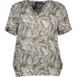 Bluzki asymetryczne: Koszulka w kolorze oliwkowym