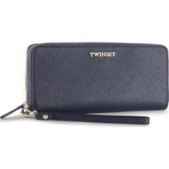 Duży Portfel Damski TWINSET - Portafoglio AS8PGS Blu Scuro 0058S. Niebieskie portfele damskie Twinset, ze skóry. W wyprzedaży za 429,00 zł.