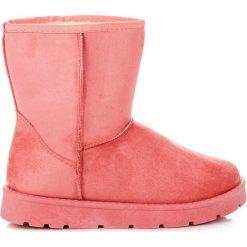 Buty zimowe damskie: Różowe mukluki SARAH