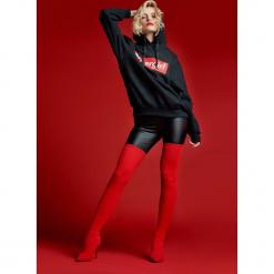 Czerwone Kozaki Never-Never Land. Czerwone buty zimowe damskie vices, z materiału, z otwartym noskiem, na wysokim obcasie, na obcasie. Za 159,99 zł.