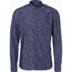 Eterna Slim Fit - Koszula męska łatwa w prasowaniu, niebieski. Niebieskie koszule męskie non-iron Eterna Slim Fit, m, z nadrukiem, z klasycznym kołnierzykiem. Za 249,95 zł.