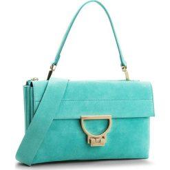 Torebka COCCINELLE - BD6 Arlettis Suede E1 BD6 12 01 01 Turquoise 028. Zielone torebki klasyczne damskie marki Coccinelle, ze skóry. W wyprzedaży za 909,00 zł.