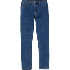Dżinsy ze stretchem Slim Fit Straight bonprix niebieski. Niebieskie jeansy męskie relaxed fit bonprix, z jeansu. Za 59,99 zł.