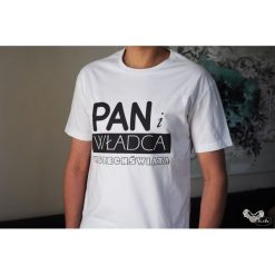 Pan i władca wszechświata, t-shirt dla niego. Czarne t-shirty męskie marki Pakamera, m, z kapturem. Za 65,00 zł.