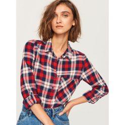 Koszula w kratę - Czerwony. Czerwone koszule damskie marki Reserved. Za 49,99 zł.